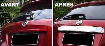 Nissan Qashqai 07-13 Chrome Rear Door Trim Trunk Handle Cover Stainless Dci +2