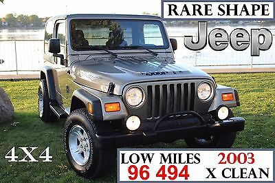 2003 Jeep Wrangler SPORT JEEP WRANGLER 03 SPORT- LOW MILES- ORIGINAL PAINT-NEW TIRES-FREE OF RUST 219 PIC