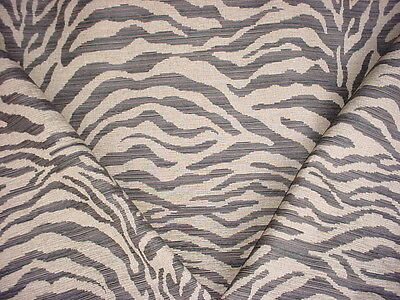 12+y KRAVET / LEE JOFA GRAPHITE / LINEN TIGER STRIPE TAPESTRY UPHOLSTERY FABRIC