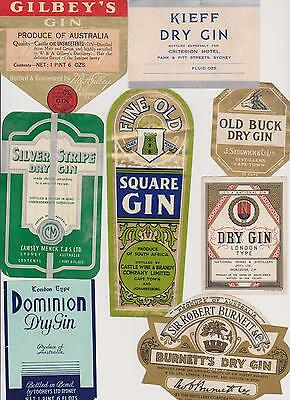 Gin labels 1