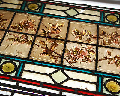 A COLLECTION OF VICTORIAN HAND PAINTED STAINED GLASS PANELS FOR REPAIR ref 600