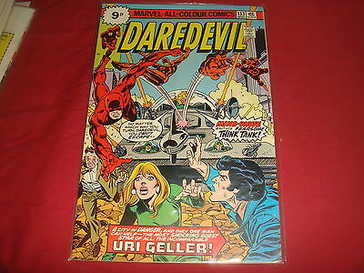 DAREDEVIL #133  Uri Geller   Marvel Comics 1976   VF-