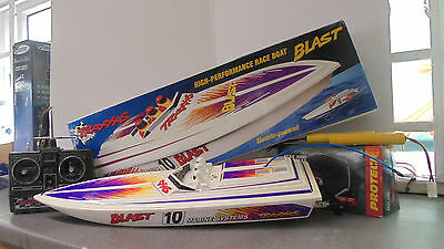 RC Traxxas Blast Electric Brushed RC Boat RTR Inc 27mhz Radio Charger Batteries