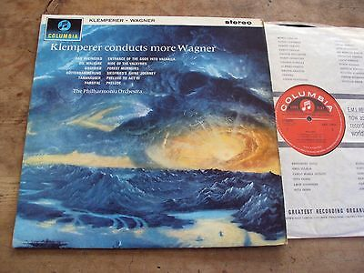 SAX 2464 LP UK Red S/C KLEMPERER CONDUCTS MORE WAGNER Columbia Stereo LOVELY!