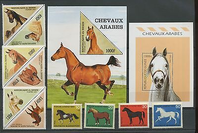 (Ta17011) Horses, Small Collection, Um/mnh, See Scan