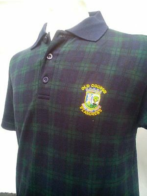 Men's Scottish Tartan Black Watch Polo Shirt St Andrews Old Course - Golf, Gift