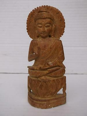 346 / Early 20Th Century Chinese Hand Carved Sandalwood Buddha