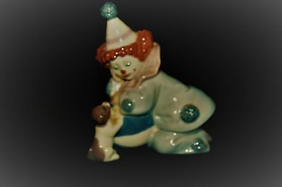 Lladro Clown With Puppy And Ball Figurine # 5278