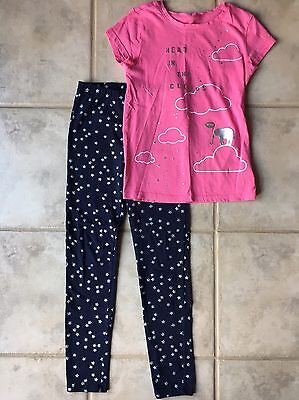 Girls Gap Outfit, Size 8, T Shirt Leggings Set, Lot Of 2 Items
