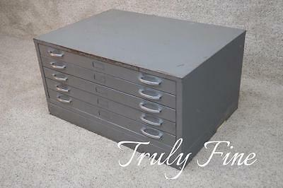 Steelcase Style Heavy Industrial File Map Blueprint Type Cabinet Drawers Storage