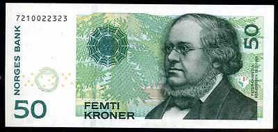NORWAY  50   KRONER  2003  P 46b  Uncirculated