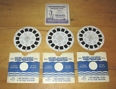 Viewmaster Passion Play Oberammergau 3 FREE SHIPPING