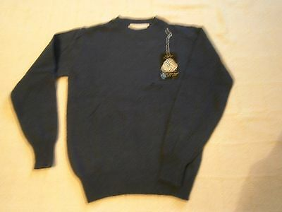 """Vintage Lambswool Sweater - 28"""" Chest Approx - Navy - Defects - New"""
