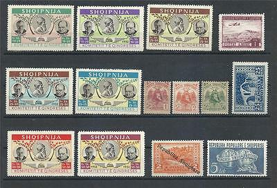 Albania 1921 and up variety MH MLH