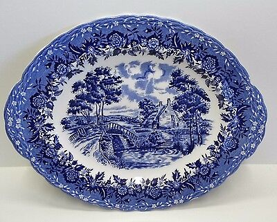 Country Style Large Serving Meat Plate -W H Grindley Staffordshire