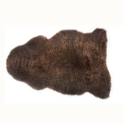 Brown  Genuine Sheepskin Rug Extra Thick 43''  Large / Real / 100%