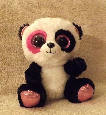 """Genuine TY Beanie Boo Penny the Panda 6"""" Justice store exclusive."""