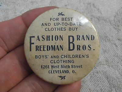 Vintage Advertising Celluloid Mirror-Clothing Store-Cleveland,Ohio-Reedman Bros
