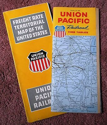 Union Pacific UP RR Public Timetable 1962 plus Freight Rate Territorial Map