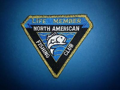 North American Fishing Club Life Member Pike Bass Fishing Iron On Patch Crest C
