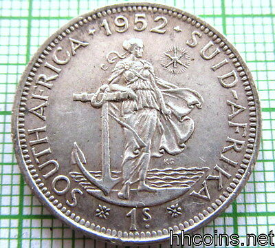 South Africa George Vi 1952 Shilling, Silver