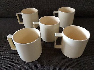 CAMPUS ANTIFERENCE 5 x PLASTIC MUGS / CUPS ~ GREAT FOR CAMPING VW VANS etc