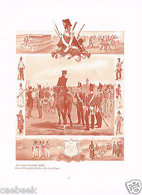 The Light Infantry (1846) Antique Military Picture Print