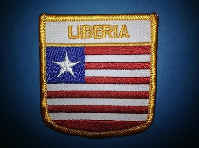 Liberia Shield Flag Patch Hat Jacket Biker Vest BackpackTravel Patch Crest A