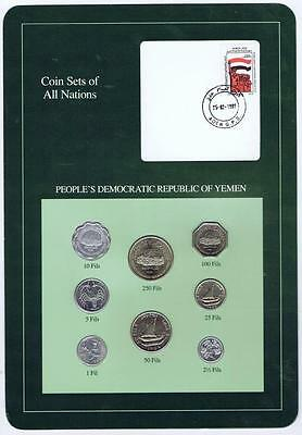 Peoples Democratic Republic Yemen 8pc Mint set BU Coin Sets of All Nations stamp