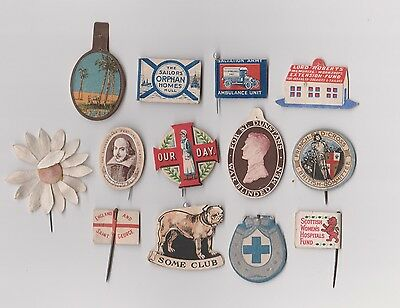 WW1 Fund Raising flags x13 BLUE CROSS SCOTTISH WOMENS HOSPITALS, ST DUNSTANS