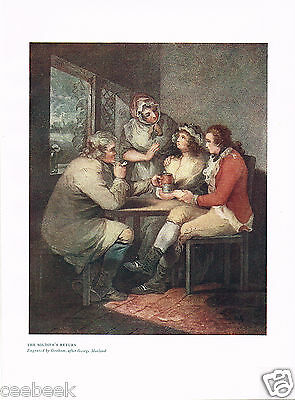 The Soldier's Return Antique Military Picture Print