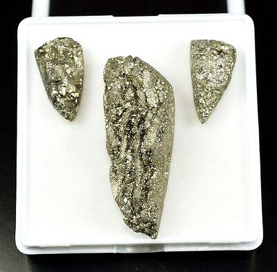 Exclusive  Set !  86.20 Cts. 100 %  Natural Pyrite  Fancy Cab For Silver Pendant