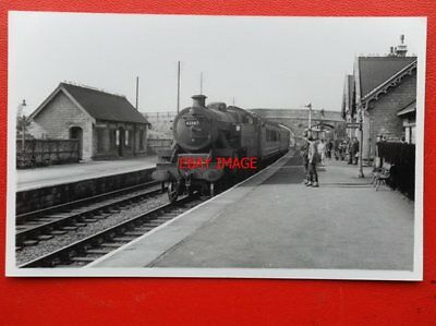 Photo  Lms Class 4P Loco No 42587 At Shirebrook West Station
