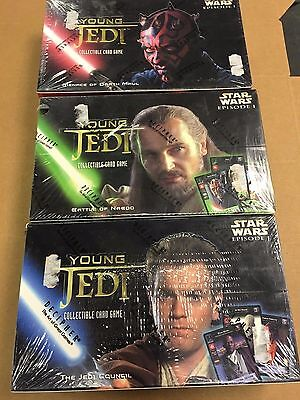 Star Wars Young Jedi Battle Naboo Council Maul Booster Box Lot Factory Sealed