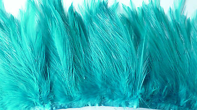 20cm PEACOCK COLOURED FEATHER TRIM APPR 9cm-13cm FOR HAT/FASCINATOR FINISHING