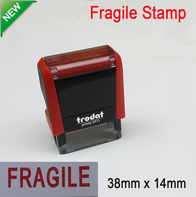 Stamp FRAGILE imprint pre-inked for business AusPost stamp