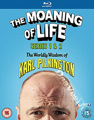 The Moaning of Life (Series 1 & 2) NEW Cult Blu-Ray 4-Disc Set Karl Pilkington