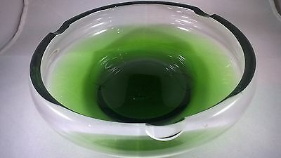 "HOLMEGAARD mid century Green Glass ""Fried Egg"" design Bowl"