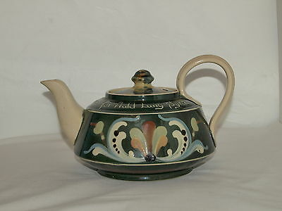 ALLER VALE 'AULD LAND SYNE' TEAPOT- GREEN GLAZE & SCANDY PATTERN replacement lid