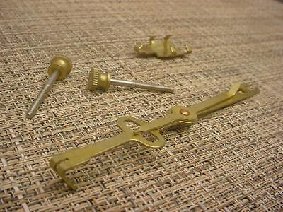 Vintage Brass Regulator Grandfather Clock Movement Pendulum Hanger Parts E951c