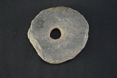 A Ceremonial Perforated Stone Disc, Native American Indian, Circa: 1600