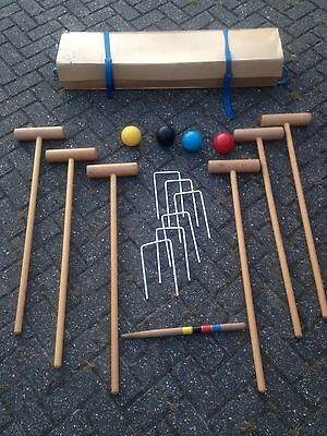 Townsend Full Size Croquet Set Complete With 6 Mallets