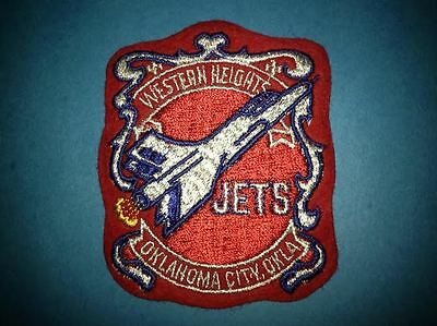 Western Heights Jets Football Oklahoma City Okla. Collectable Jacket Patch Crest