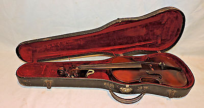 Antique Violin Nicolaus Bergonzi Cremonensis Faciebat 1750 With Case