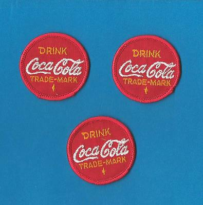 3 Lot Vintage 1960's Drink Coca Cola Coke Hoodie Backpack Patches Crests Badges