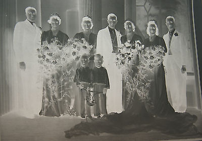 Lot Of   Vintage Negative Plates  Of Wedding Group