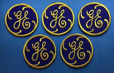 5 Lot Vintage G E General Electric Employee Uniform Jacket Hat Patches Crests A