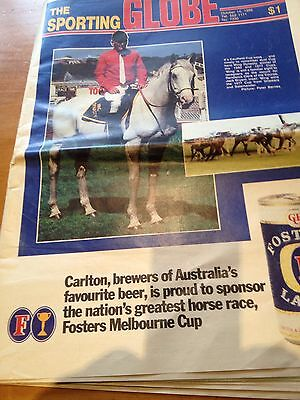Sporting Globe  Oct 1986 Horse racing special