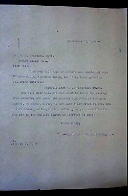 """Collectible 1904 Letter """"A. H. Drawbond, Supt.""""    Foster Falls, Va"""