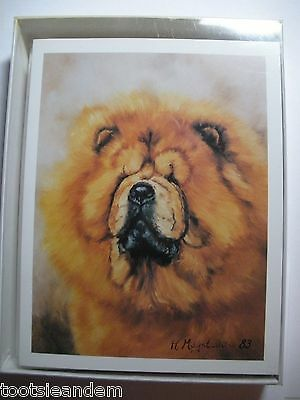 Red Chow Chow Notecards Best Friends by Ruth Maystead